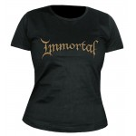 T-shirt Immortal - Gold Logo - Femme
