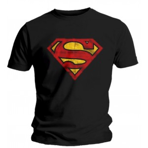 T-shirt Superman noir - Logo