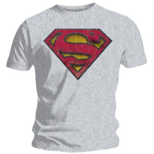 T-shirt Superman gris - Logo
