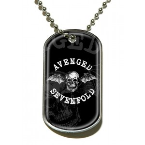 Pendentif Dog Tag Avenged Sevenfold - Death Bat