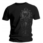 T-Shirt In Flames - Tonal Side Skull