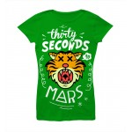 T-shirt 30 Seconds To Mars - Green Tiger - Femme