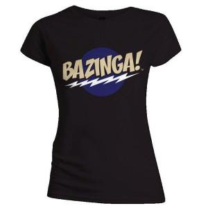 T-shirt The Big Bang Theory - Bazinga - Femme