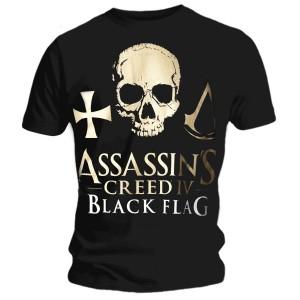 T-shirt Assassins Creed IV - Golden Logo Skull