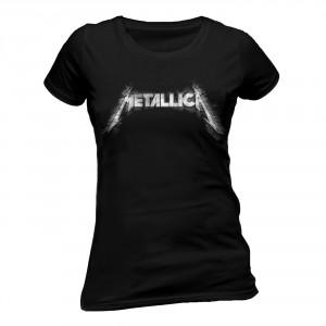T-shirt Metallica - Sliced Logo - Femme