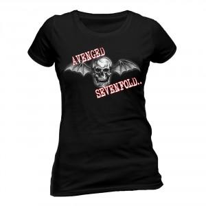 T-shirt Avenged Sevenfold - Bat Skull Glow - Femme