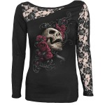 T-shirt Manches Longues Spiral - Rose Skull - Femme