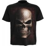 T-shirt Spiral - Goth Skull