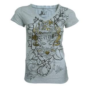T-shirt LA Ink - Grey Flame - Femme