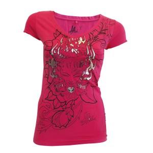 T-shirt LA Ink - Pink Flame - Femme