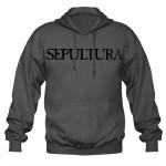 Sweat à Capuche Sepultura - Logo Grey