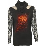 T-shirt Manches Longues Spiral - Burning Rose - Femme
