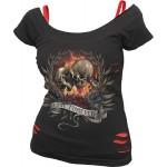 T-shirt Spiral - Love Forever - Femme