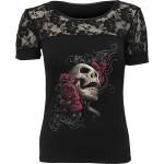 T-shirt Spiral - Rose Skull - Femme