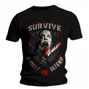 T-shirt The Walking Dead - Survive Protect and Defend