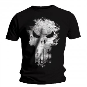 T-shirt Punisher - Distress Skull