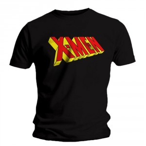 T-shirt X-Men - Logo 3D Black