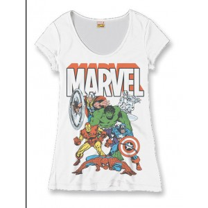 T-shirt Marvel - Top Heroes Group - Femme
