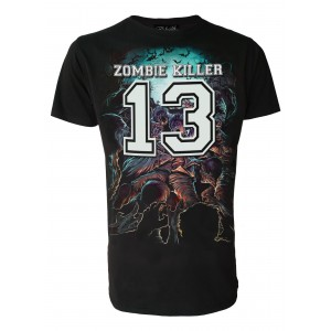 T-shirt Darkside - Zombie Killer Blue
