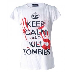 T-shirt Darkside - Keep Calm and Kill Zombies - Femme