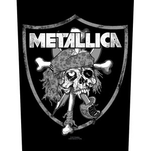 Back Patch Metallica - Raiders Skull
