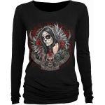 T-shirt Manches Longues/Top Spiral - Muertos Dias - Femme