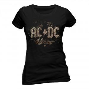 T-shirt AC/DC - Rock Or Bust - Femme