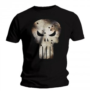 T-shirt Punisher - Gunshot Skull