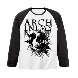 T-shirt Manches Longues Arch Enemy - Skull Baseball