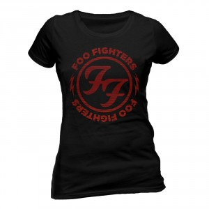 T-shirt Foo Fighters - Logo Red Circle- Femme