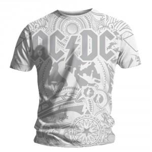 AC/DC T-shirt - Black Ice Allover