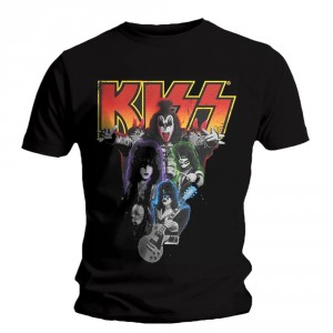 T-shirt Kiss - Neon band