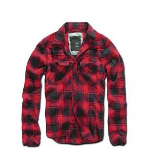 Chemise Brandit - Noir et rouge