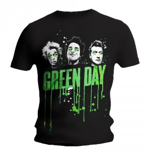 T-Shirt Green Day - Drips Mens