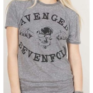 T-shirt Avenged Sevenfold - Classic Deathbat Grey
