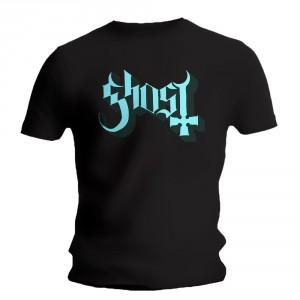 T-shirt Ghost - Logo Blue