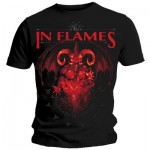 T-Shirt In Flames - Baphomet