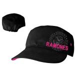 Casquette Ramones Femmes - Noire Logo Rose
