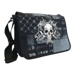 Sac Messenger Miami Ink - Skull And Cross