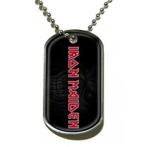 Pendentif Dog Tag Iron Maiden - Logo